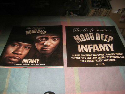 MOBB DEEP-(infamy)-1 POSTER-2 SIDED-12X12-NMINT-RARE