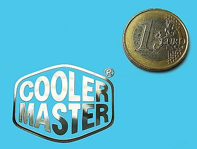 COOLER MASTER  METALISSED CHROME EFFECT STICKER LOGO AUFKLEBER 35x28mm [660]