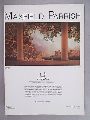 Maxfield Parrish Art Gallery Exhibit PRINT AD -- 1975 ~~ Daybreak