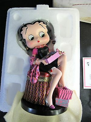 RARE Danbury Mint Betty Boop Porcelain Figure Betty Boop Perfect Fit IN BOX!