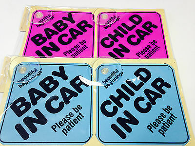 Beautiful Beginnings Child In Car Baby Car Sign Kids Toddlers Safety Car Sign