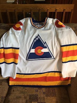 Colorado Rockies Hockey Vintage Hockey Jersey Men Large CCM