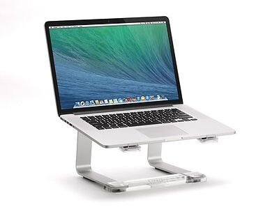 Laptop Elevator Stand PC MAC Computer Raised Table Saves Desk Space Screen Riser