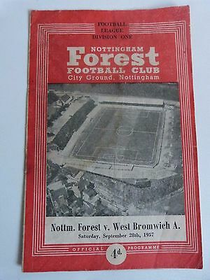 1957/58 Nottingham Forest V West Bromwich Albion - Division One