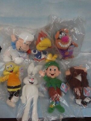 RARE General Mills Breakfast Pals Beanbag Dolls Set 7 1998 MIP