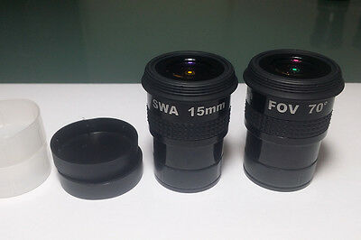 "Eyepieces x2  SWA 15mm attacco 1.25"" - 31.8mm"