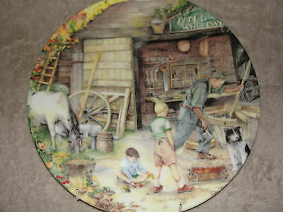 "Very Rare And Beautiful Plate - Royal Doulton ""the Wheelwright'' 1991"