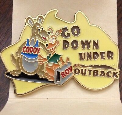 Go Down Under Outback Steakhouse Pin Collectors Flare