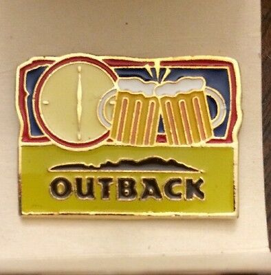 Outback Steakhouse Cheers Happy Hour Beer Mug Pin Collectors Employee Hat Lapel