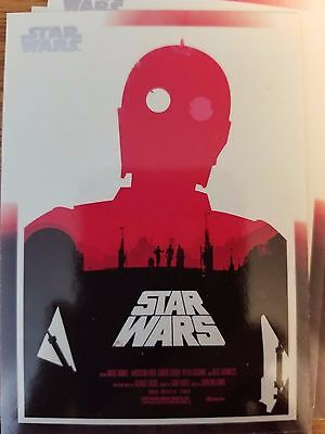2017 Star Wars 40th Anniversary #173 Star Wars Poster Art by Olly Moss