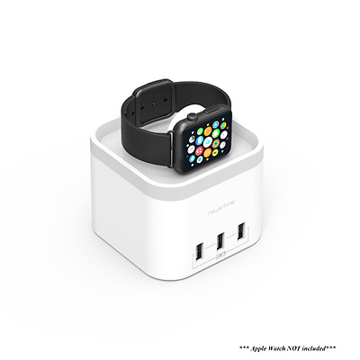 New mBeat Power Time Apple Watch Charging Dock with 3 Extra Smart Charging Ports