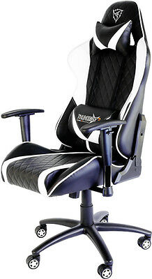 New ThunderX3 TGC15BW Padded seat Padded backrest office/computer chair