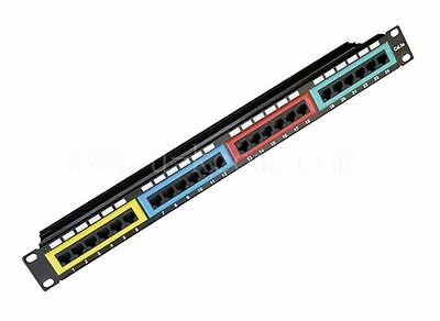 New Astrotek CAT6 Patch Panel 24 Port PCB Type 110 IDC Type with Color Frame in