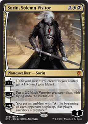 Sorin, Solemn Visitor x1 NM      Magic the Gathering      MTG Khans of Tarkir