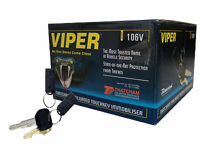 Viper 106V Touch Key Immobiliser with Black Wire and Australian Standards Approv