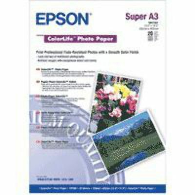 New Epson ColorLife Photo Paper, DIN A3+, 245g/m², 20 Sheets photo paper