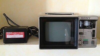 Vintage Sony Portable TV-415 Television Analog UHF/VHF with Power Cord