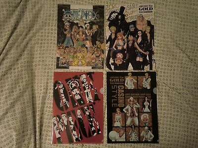 One Piece Pochettes transparentes A4 Official Clear Files X4 Luffy Zoro Nami