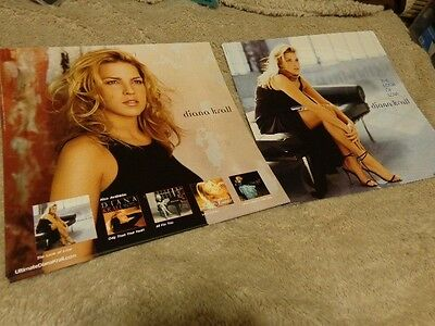 Diana Krall *Six 2001 The Look Of Love 12x12 Promo Cardboard Poster Flats!