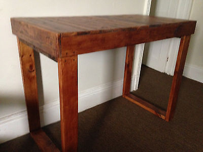 Timber Breakfast Bar Kitchen Bench High Table Rustic Shabby Chic Recycled Wood