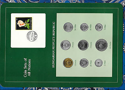 Coin Sets of All Nations Hungary all coins 1978 UNC Rose stamp
