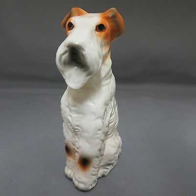 Nanco Sitting Wire Hair Fox Terrier Puppy Dog Figurine Statue Japan Ceramic