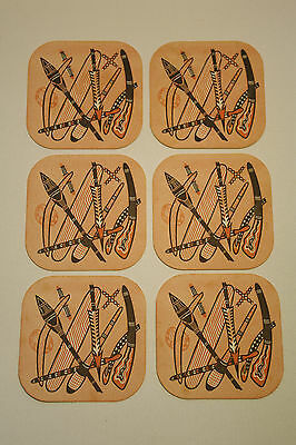 Collectable Vintage Retro Beer Coaster Aboriginal Kitsch Spears Boomerang Set 6