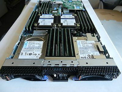 IBM HS23-LOT OF 6 blades/7875 FT2 with 2 x E5-2670 8- Core 192GB /2 x146 Gb HDD