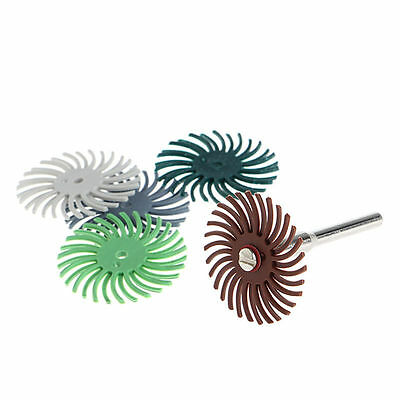 6Pcs Detail Abrasive Brush Mixed Grit Coarse Accessories Set For Rotary Tool