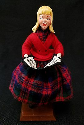 Vintage SIMPICH Christmas Caroler Young Lady Hand Crafted  10""