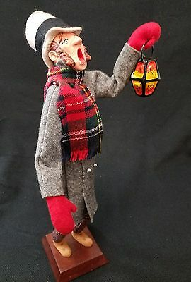 Vintage SIMPICH Character Doll Christmas Night Watchman Lantern Caroler. 13""