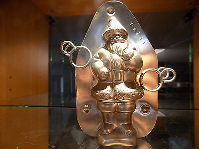 antique chocolate mold  schokoladenform santa claus mould