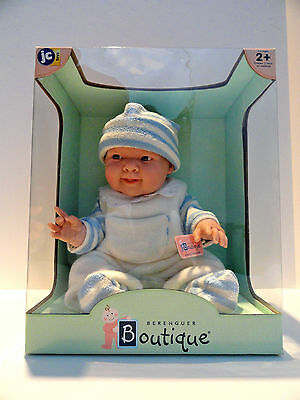 La Newborn-Real Boy Doll In Blue (Berenguer Boutique) By JC Toys Rare/HTF