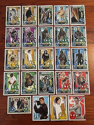 Star Wars - Force Attax 2017 (TOPPS collector cards) 24 x Cards Mixed Lot #10.