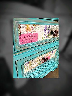 shabby nightstands turquoise color