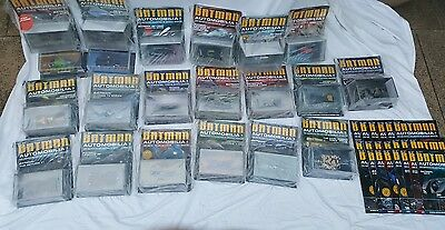 Batman Automobilia Eaglemoss Collection of 41 Cars With Magazines