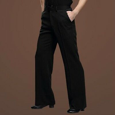 New Men Dance Pants Latin Modern Cha-Cha Tango Dancing Trousers Soft Dancewear
