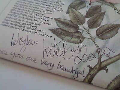 Kate Bush Never Forever Signed And Dedicated Lp Very Nice