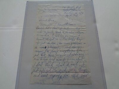 Jethro Tull  A Signed Love Letter By Ian Anderson To Yvonne April 3Rd 1969