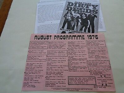 Ac/dc Original Marquee Club 1976 Concert Flyer