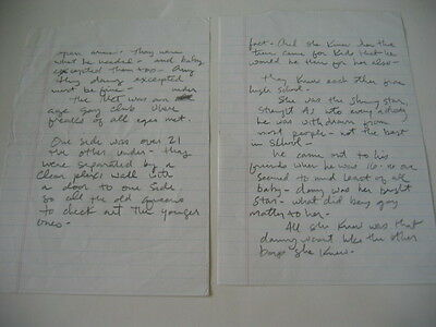 Hole Courtney Love    A Two Page Handwritten Letter