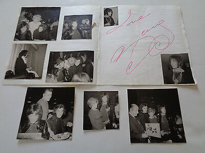 Barry Ryan Autograph Page + Candid Photos Germany 1967/68...9 Great Photos