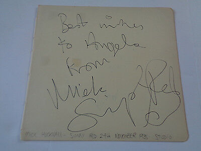Simply Red Mick Hucknall Autograph /signed Large Autograph Book Page 1985