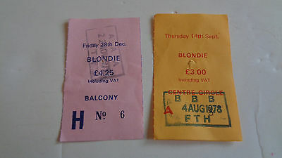 Blondie Ticket Stub 1978/79  Free Trade Hall Manchester Uk