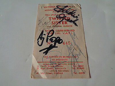 Twisted Sister Autograph Signed 1983 Concert Ticket
