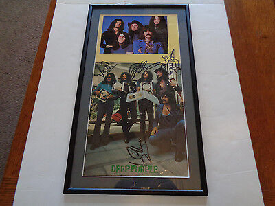 Deep Purple Autograph/signed Large Book Page Vienna Austria 1972
