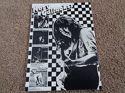 Rory Gallagher Autograph Signed 1973 Tour Programme
