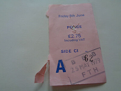 The Police Concert Ticket Stub 8Th June 1979 Free Trade Hall Manchester Uk