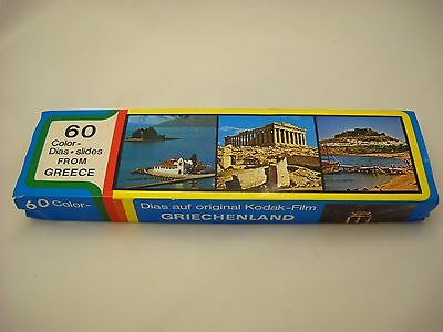 60 Vintage Professional Color Slides of Great Sights in Greece