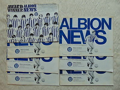 JOB LOT OF 29 x WEST BROM BROMWICH ALBION FOOTBALL PROGRAMME 1964 - 1969